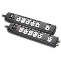 2-Pack APC 6-Outlet Surge Protector with Coax for