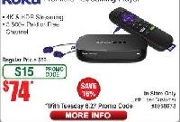 Roku Premiere+ Streaming Player $74 (w/emailed cod