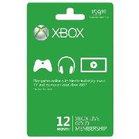 12-Month Xbox Live Gold Membership Card (Physical