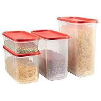 8-Piece Rubbermaid Modular Canisters, Food Storage