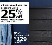 Ikea Family Members 4 Day Flash Sale On Malm And Kullen Drawers Up