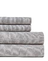 MODERNIST Cotton-Blend Glen Plaid Sheet Set, King
