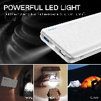 Power Bank 10000mAh, Dual output + Flashlight, Qui