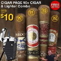 Cigar Page 90+ Rated Cigar + Lighter Combo $10 FS