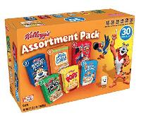 Kellogg's Breakfast Cereal, Assortment Pack,