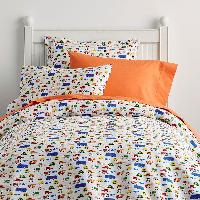 The Company Store Cotton Percale Duvet Covers: Bee