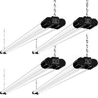 4 Pack 4FT Linkable LED Shop Light for Garage, 250