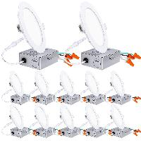 12-Pack Hykolity 100-Watt Equivalent Dimmable Canl