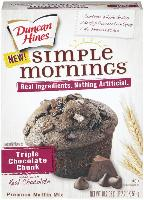 Duncan Hines Simple Mornings Triple Chocolate Chun