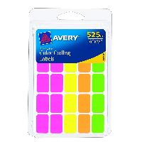 525-Count Avery Removable Color Coding Labels $1.6
