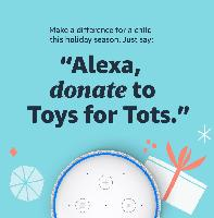 Donate to Toys for Tots & Amazon will match to